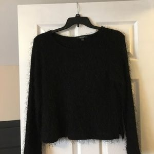 Black tinsel sweater